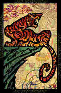illustration for the Tiger Chinese astrological sign