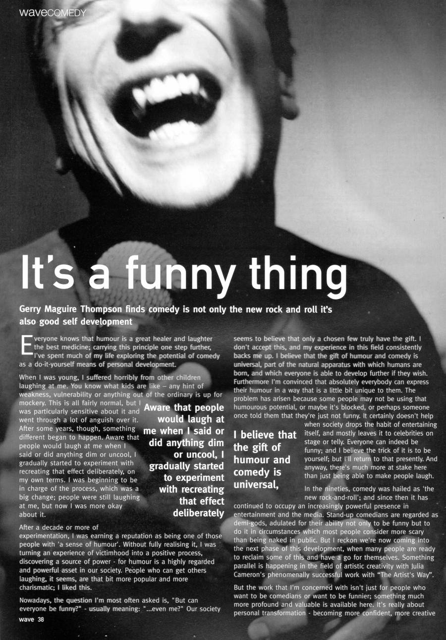 It's a Funny Thing feature p1, by Gerry Maguire Thompson