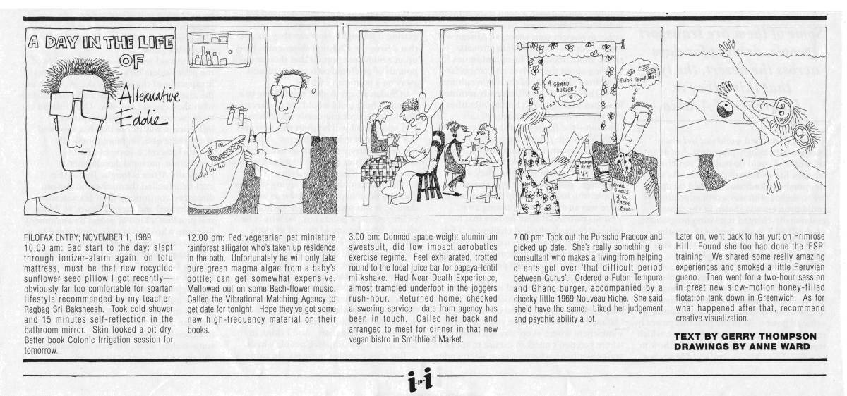 A Day in the Life of Alternative Eddie: a cartoon strip series by Gerry Maguire Thompson and Anne Ward