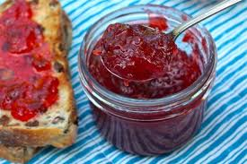 home made jam and bread