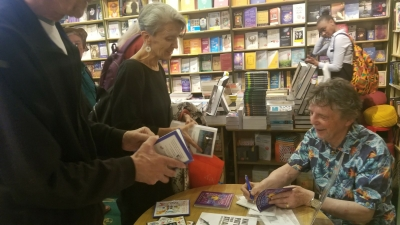 Author Gerry Thompson signing books